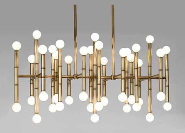 Modern 42 light linear pendant chandelier