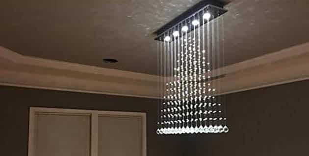 Modern rain drop chandelier