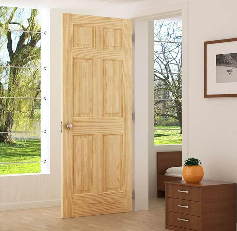 Pine wood interior door