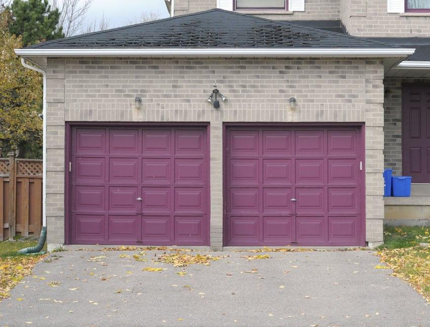 Purple garage doors
