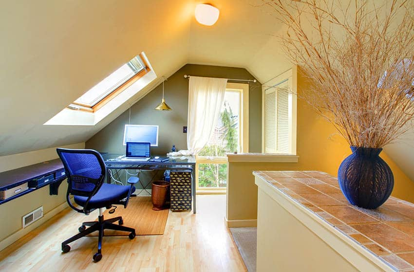 Small contemporary attic home office