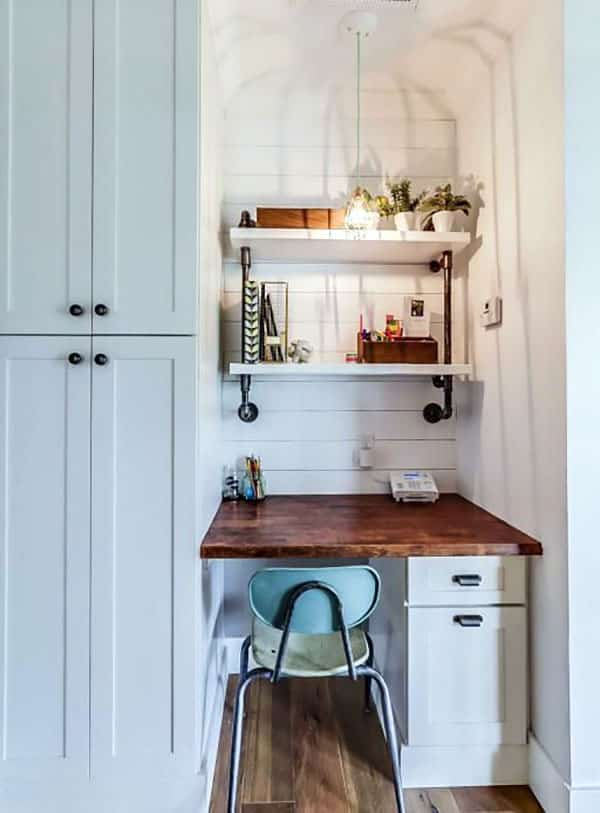Small office nook off kitchen