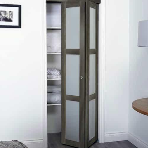 Wood bifold door for closet
