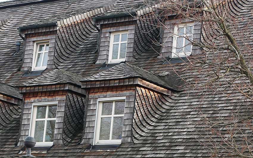 Wood Single roof on large house