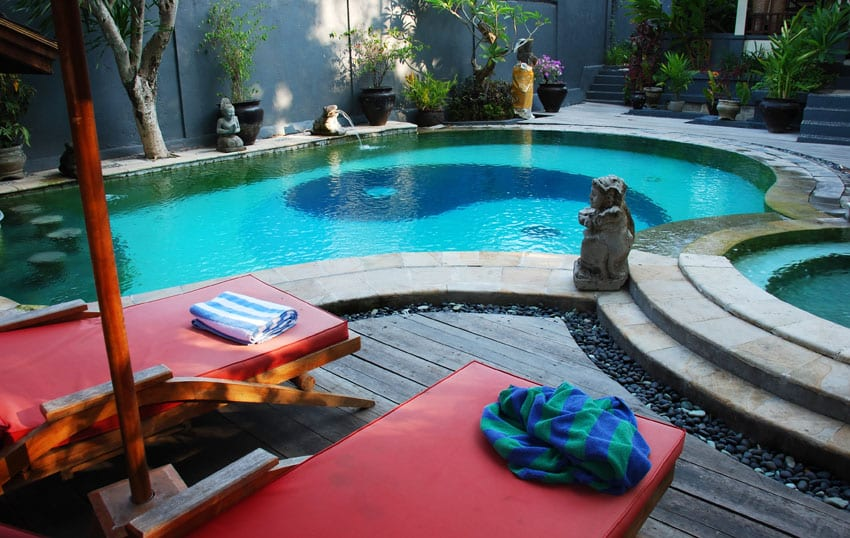 Yin yang design small custom swimming pool