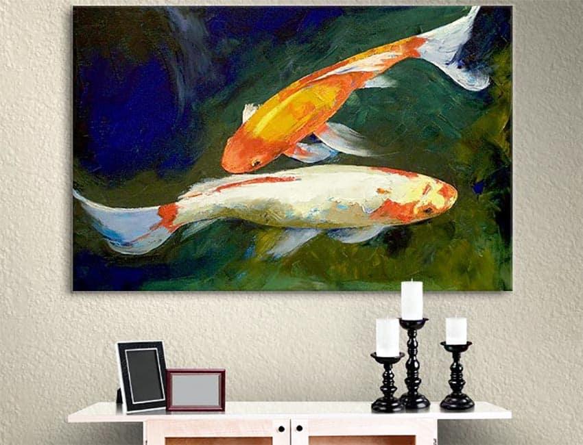 Feng shui koi fish wall print