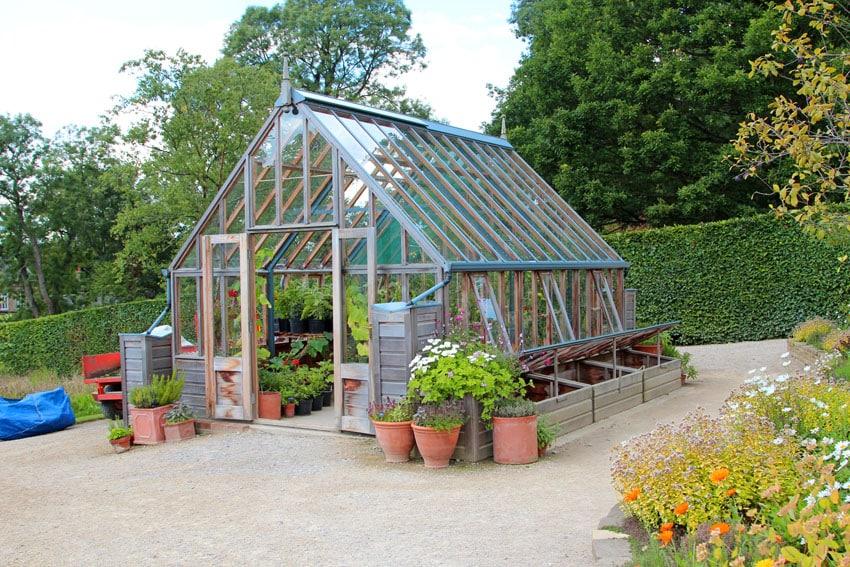 Garden cold frame greenhouse