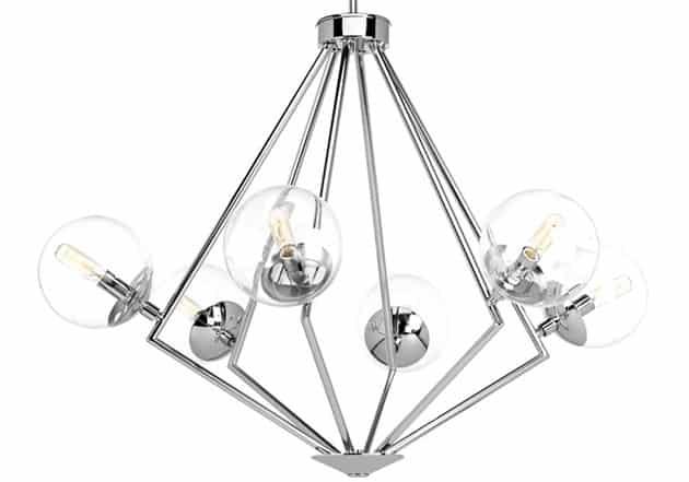 Mid century modern globe chandelier