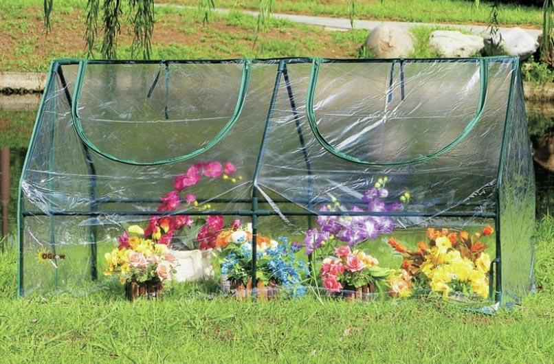 Mini pvc greenhouse for backyard