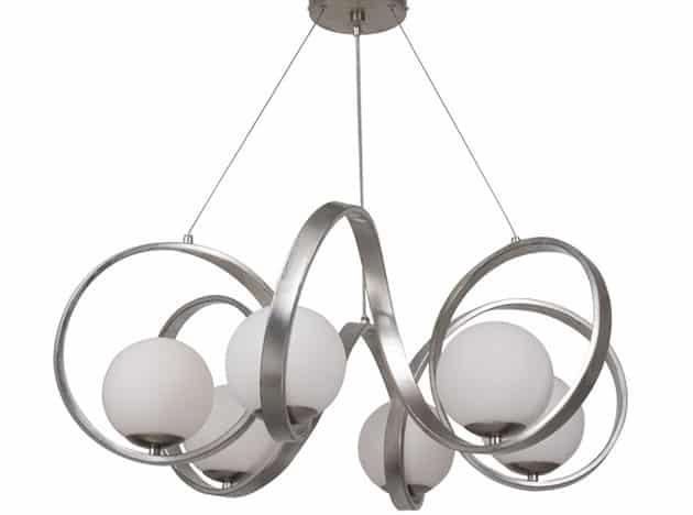 Modern spiral design globe chandelier