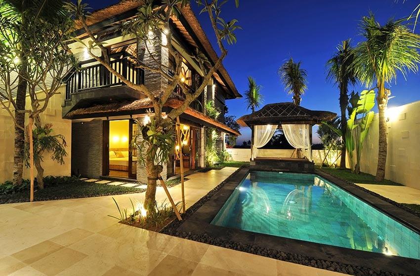 Poolside gazebo veranda