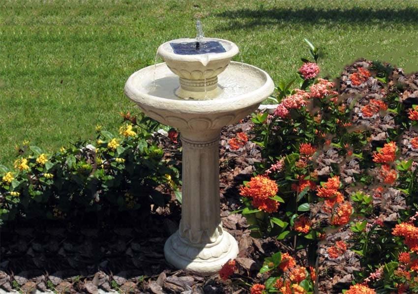 Resin fountain with solar power