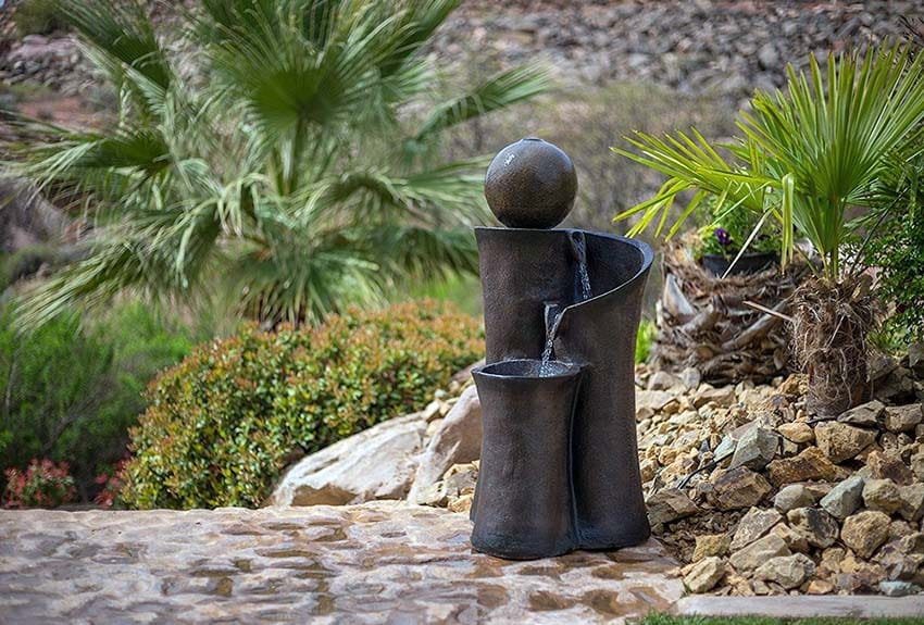 Small floating ball water fountain for patio