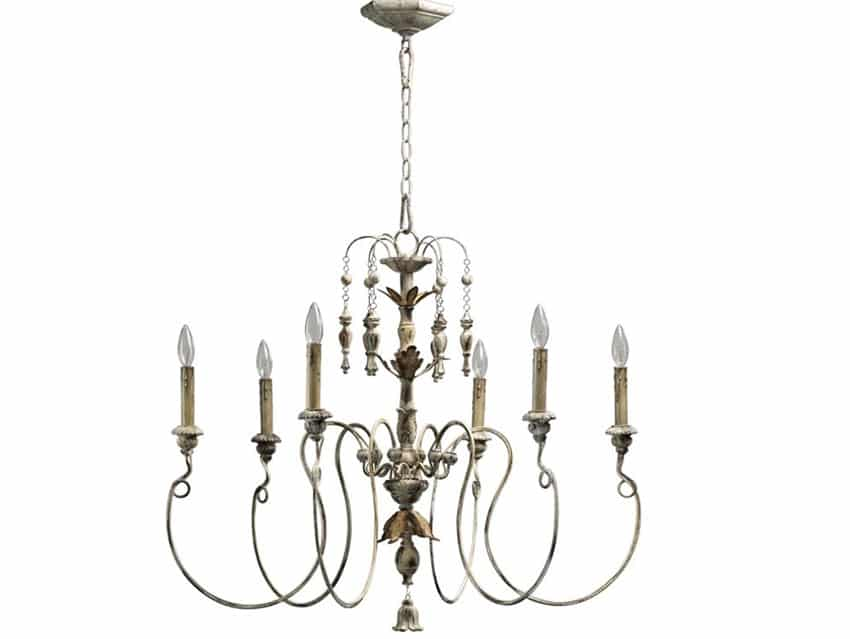 6 light candle style Victorian chandelier