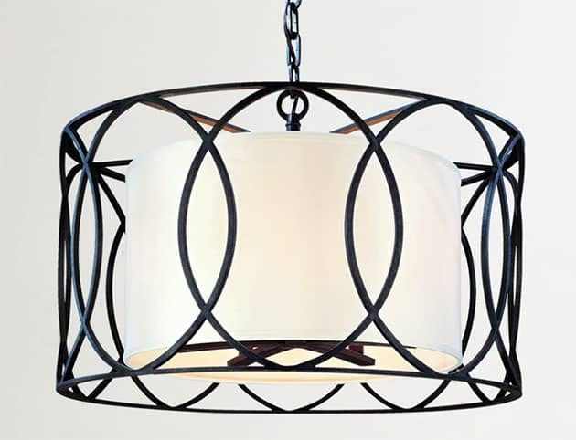 Cage drum pendant light