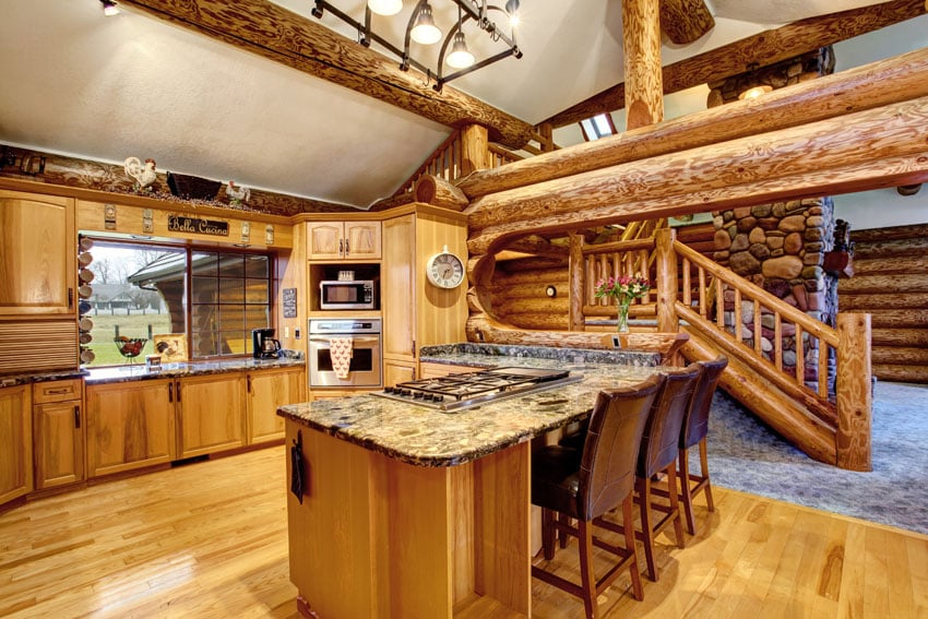 Log Cabin Kitchens (Cabinets & Design Ideas)
