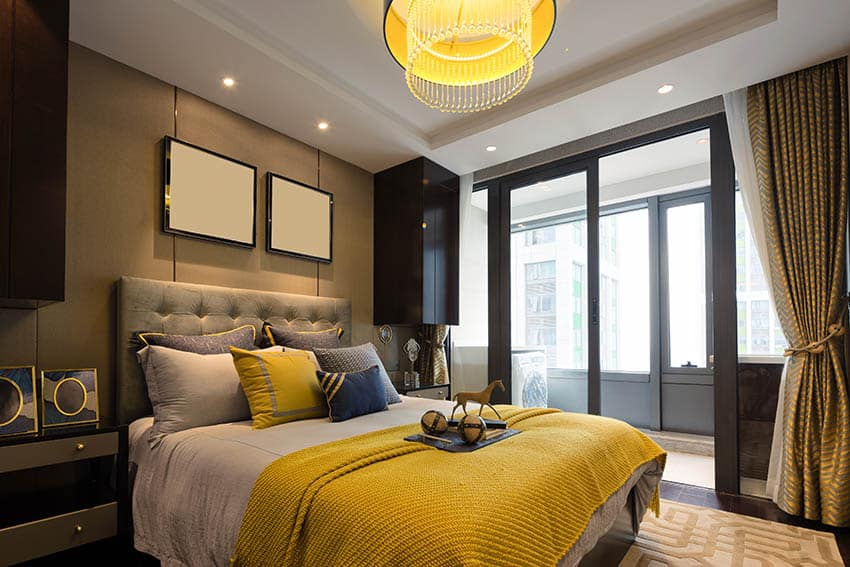 Stylish Gray Yellow Bedroom Designs Designing Idea - Gray bedroom ideas with yellow