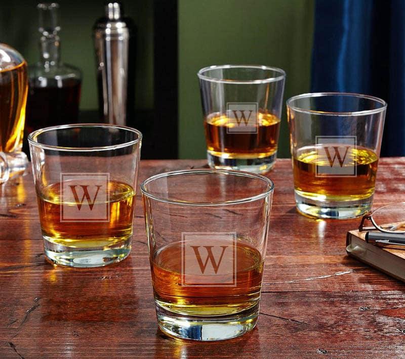 Custom whisky glass barware