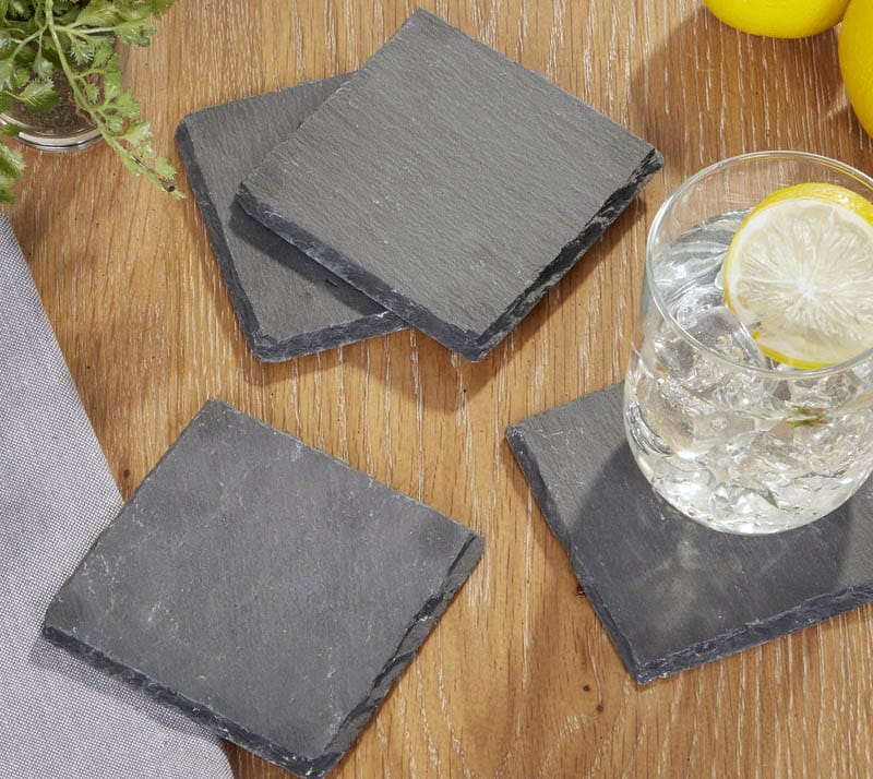 Slate coasters for cocktails