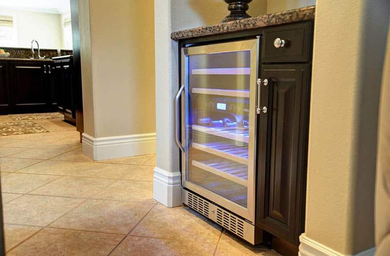 Wine refrigerator for home bar