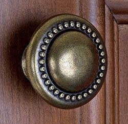 Antique brass mushroom knob for kitchen cabinets