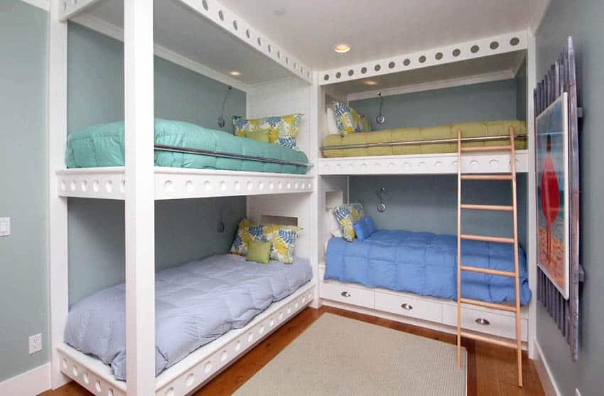 Built in bunk beds for multiple kids
