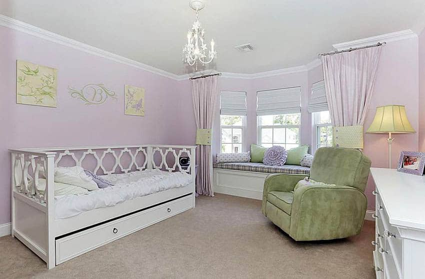 Kids bedroom with divian bed with storage underneath