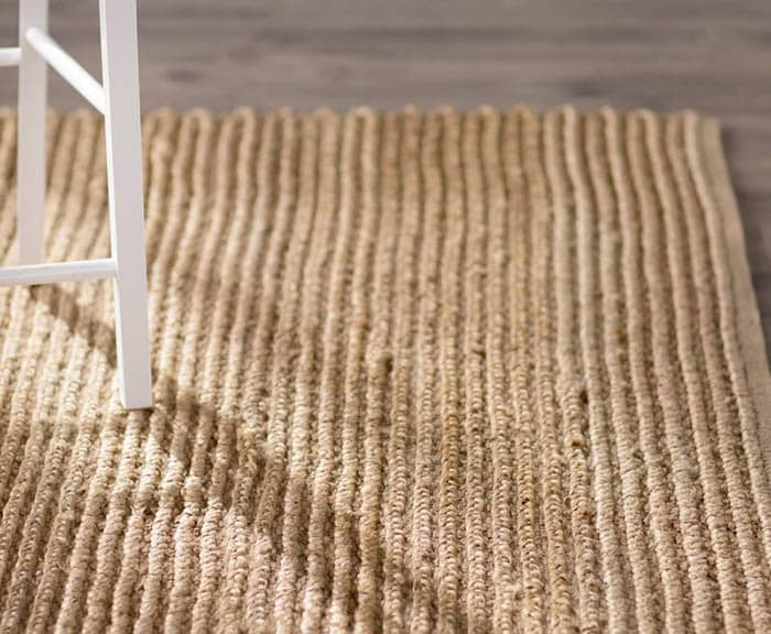Hand woven jute natural fiber rug