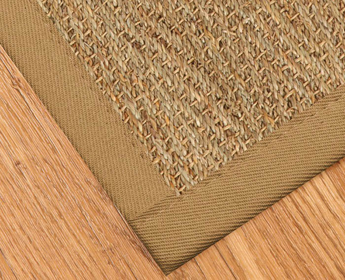 Natural seagrass rug