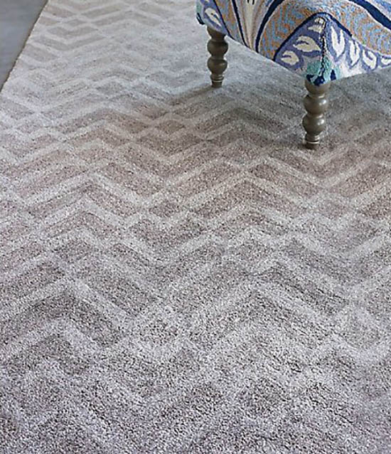 Rayon carpet in living room