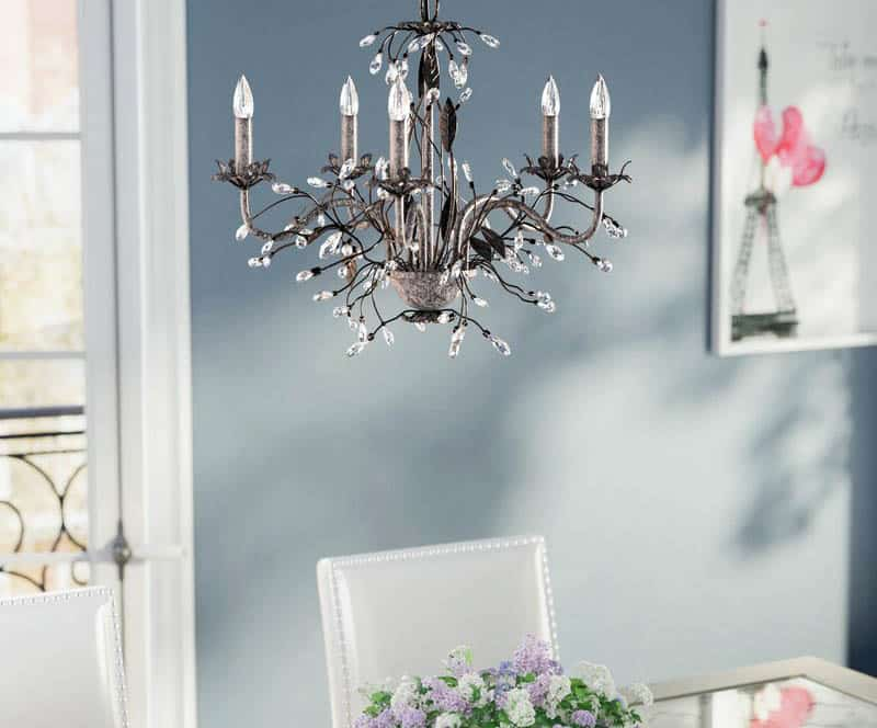dining-room-candlelight-chandelier-with-5-light-bulbs