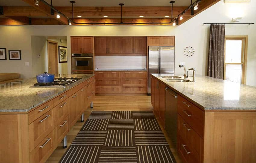 Kitchen with modern wood shaker design european cabinets