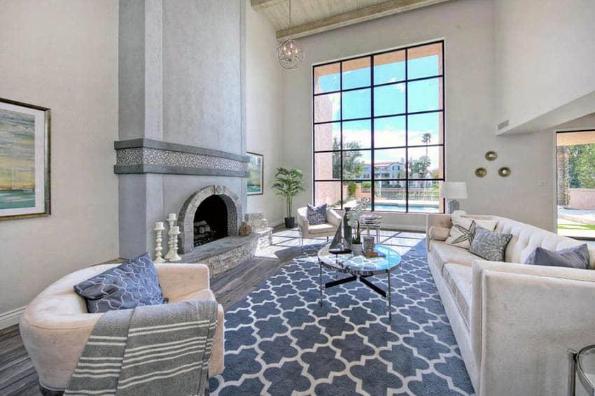 Living room with pattern nylon carpet