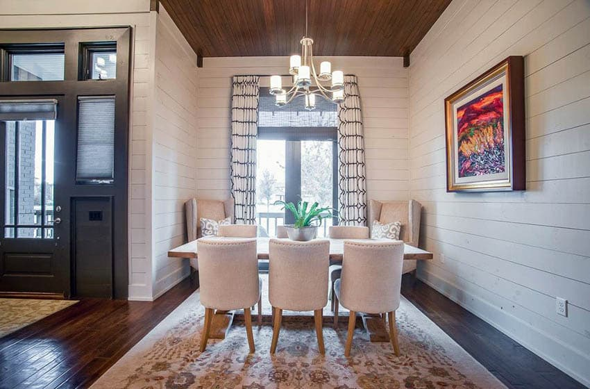 Shiplap Dining Room Ideas Designing Idea