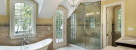 beautiful-luxury-bath-glass-shower-chandelier-dual-sinks