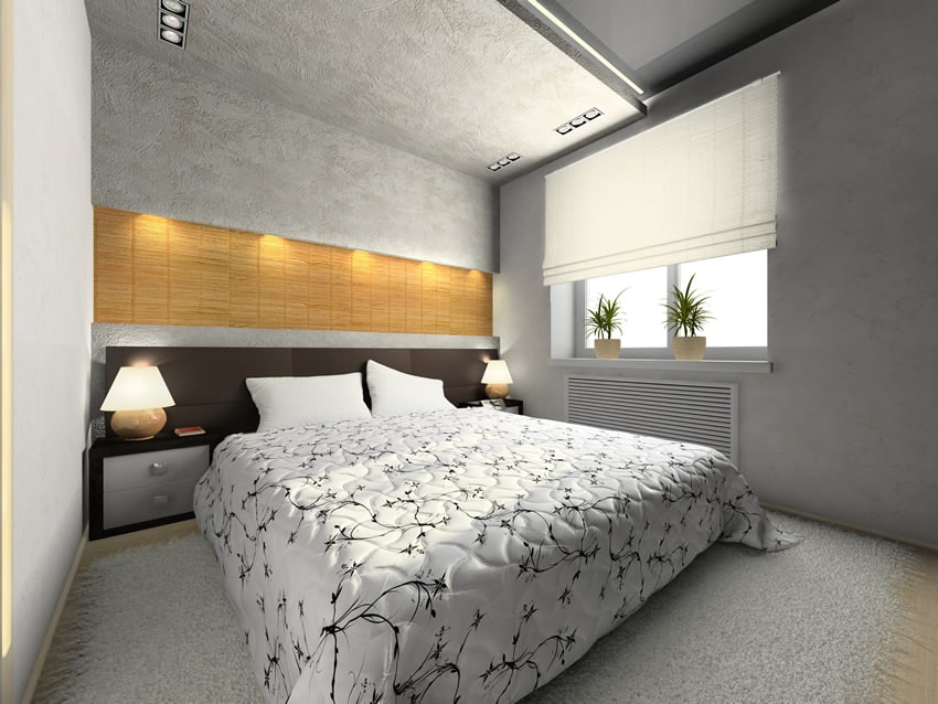 Bedroom modern style white grey