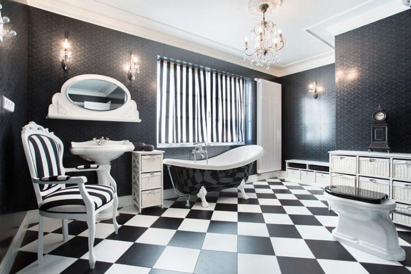 15 Black And White Bathroom Ideas (Design Pictures)