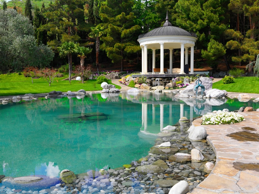 57 garden water feature designs designing idea for Large pond design