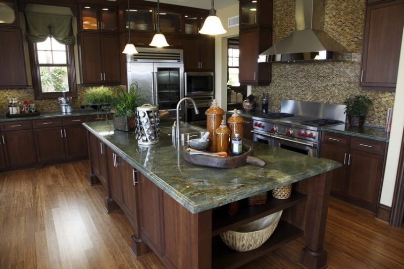 Green Granite Countertops (Colors & Styles) - Designing Idea on What Color Cabinets Go Best With Black Granite Countertops  id=98219
