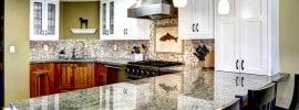 black-and-white-granite-with-mosaic-tile-backsplash