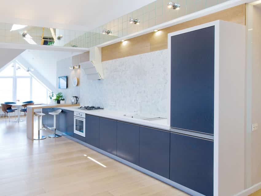 Navy Blue Kitchen Tiles