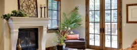 living-room-with-white-fireplace