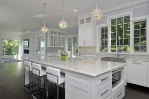 contemporary-kitchen-with-sugar-beige-marble-countertops
