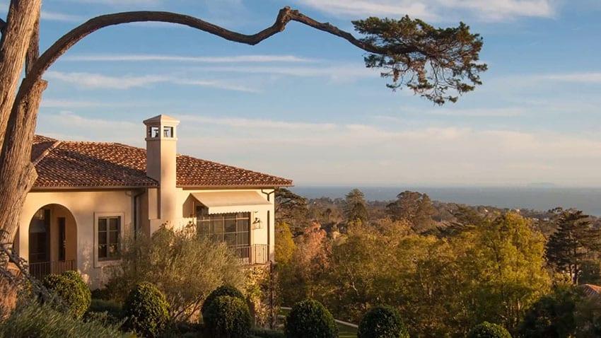 Ocean view Mediterranean style home