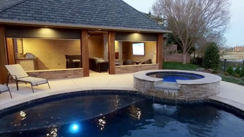 Pool Cabana Design with Outdoor Kitchen - Designing Idea