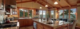 craftsman-kitchen-with-azurite-granite-and-vaulted-ceiling