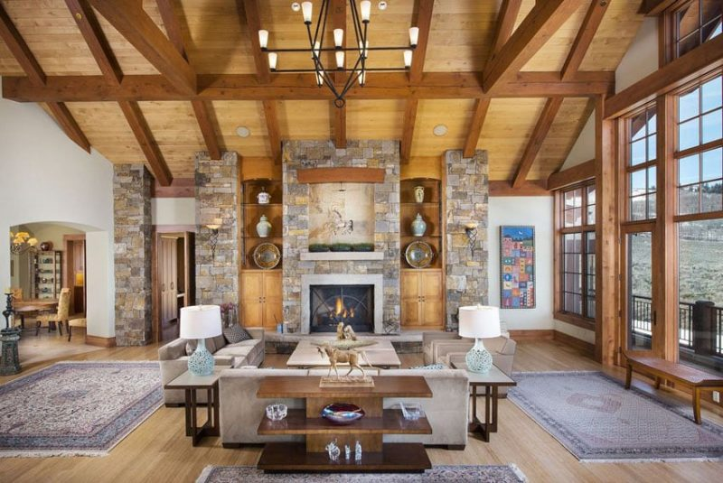30 craftsman living rooms beautiful interior designs for Craftsman interior design elements