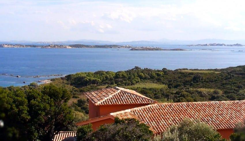 Ocean view patio at Corsica island