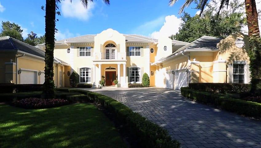 Custom built lake front home in florida