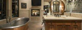 craftsman-master-bathroom-with-brushed-copper-and-polished-nickel-bathtub